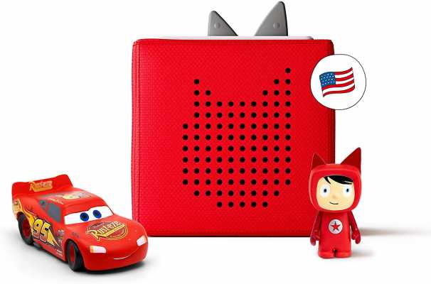 Toniebox Starter Set Red + Disney and Pixar Cars - Educational Musical Toy for Boys