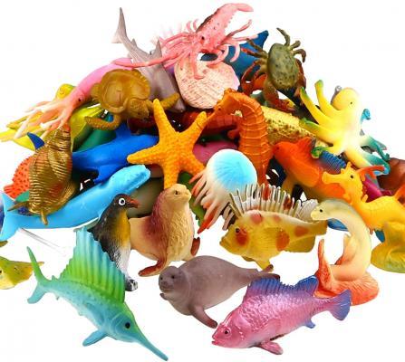 Ocean Sea Animal, 52 Pack Assorted Mini Vinyl Plastic Animal Toy Set