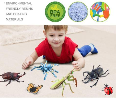 Volnau Bug Toys Figurines 12PCS Insect Toys Figures for Kids