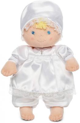 Eden Baby Christening Baptism Gift Soft Doll Dressed in White Satin Dress