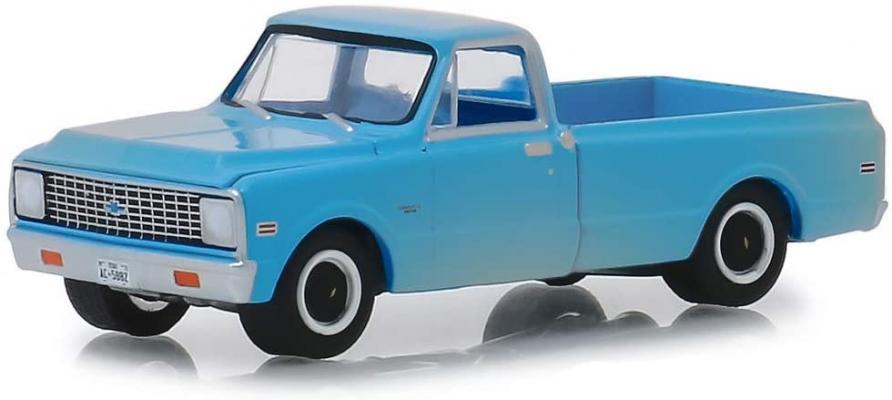 Greenlight 44820 B 1971 Chevrolet C-10 Pickup Truck Blue