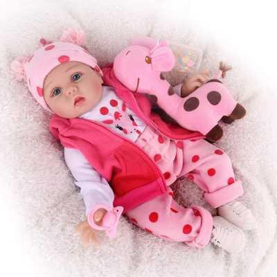 CHAREX Reborn Baby Dolls, 22 inches Newborn Lifelike Soft Silicone Baby Dolls