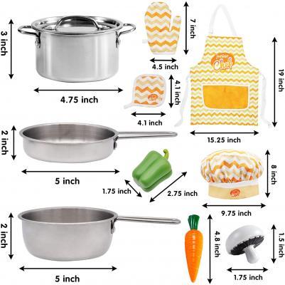 JOYIN 29 Pcs Play Kitchen Accessories Kids Pots and Pans Playset