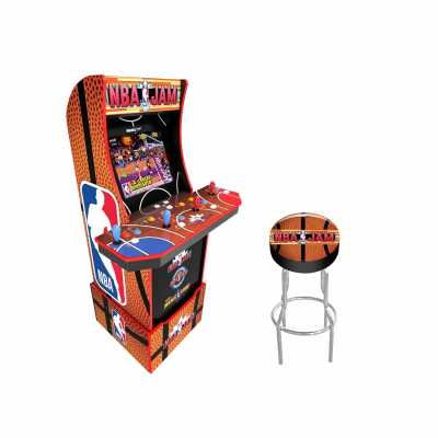Arcade1Up Arcade1Up NBA JAM Home Arcade Machine, 3 Games in 1, 4 Foot Cabinet with 1 Foot Riser - Electronic Games