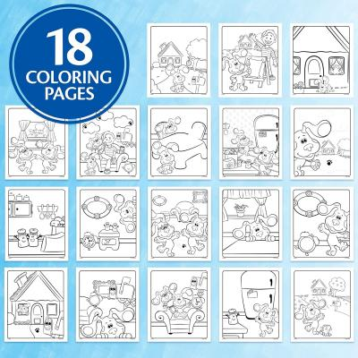 Crayola Blues Clues Wonder, 18 Mess Free Coloring Pages, Multi