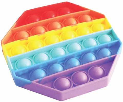 Avilana Silicone Fidget Toy, Push Pop Bubbles Fidget Sensory Toy