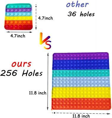 256 Holes-Super Jumbo Push Pop Fidget Toy Stress Relief