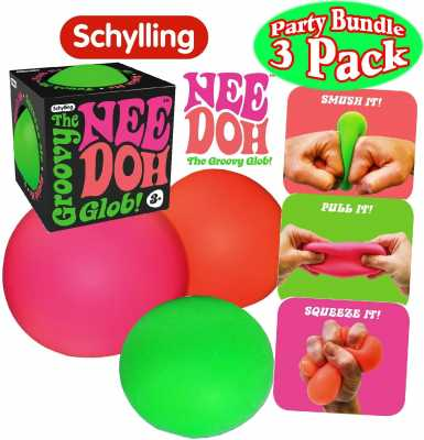 Schylling NeeDoh The Groovy Glob! Squishy, Squeezy, Stretchy Stress Balls