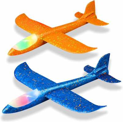 2 Pack LED Light Airplane,17.5inches
