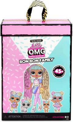 LOL Surprise OMG Bon Bon Family with 45+ Surprises Including Candylicious OMG Doll