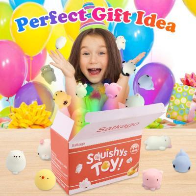 Satkago Mochi Squishy Toy, 25 Pcs Squishies