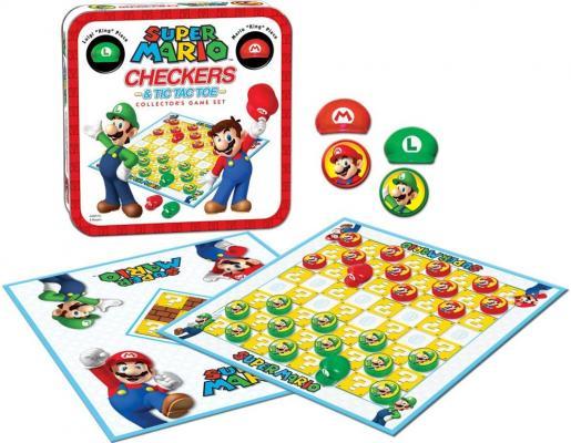 Super Mario Checkers & Tic-Tac-Toe Collector's Game Set