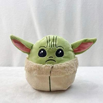 6.5Inch Baby Yoda Reversible Plushie Toys Double-Sided Flip Plush Toy (Green to Blue)