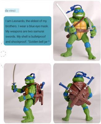 City hero Turtles 6 PCS Set New - Mutant Ninja Action - TMNT Action Figures - Turtles Toy Set