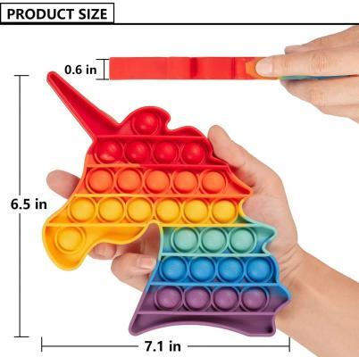Unicorn Fidget Pop Push Pop Bubble Toys