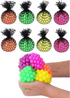 Totem World 8 Colorful Sewn Mesh Stress Balls - 2.4in Squishy Fidget Toy