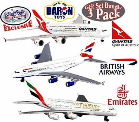 Daron Emirates A380, Qantas A380 & British Airways A380 Die-cast Planes