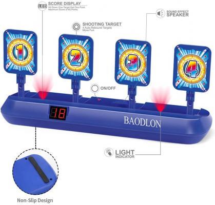 BAODLON Digital Shooting Targets with Foam Dart Toy Gun