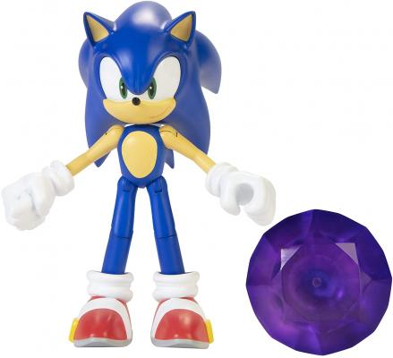 Sonic The Hedgehog Action Figure 4-Inch Sonic with Chaos Emerald Accessory