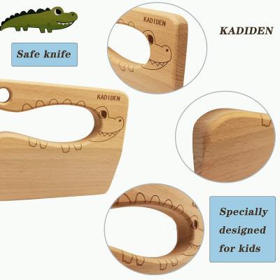 Kasiden Wooden Kids Knife for Cooking