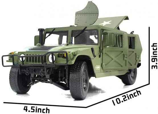 Fisca 1/18 Scale Model Car Metal Diecast Military Armored Vehicle Battlefield Truck