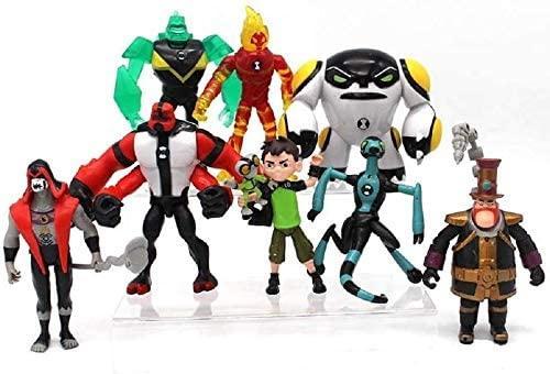 Valibe Ben 10 Action Figures - 9-Piece Ben10 Figurine Set