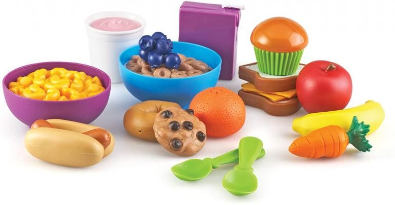 Learning Resources New Sprouts Munch It! Pretend Play Food, Toddler Outdoor Toys, Picnic Playfood, 20 Pieces