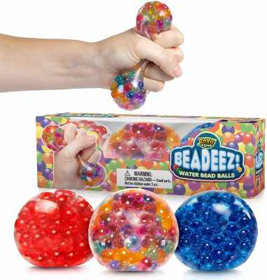 Beadeez Stress Relief Squeezing Balls 3-Pack for Kids and Adults