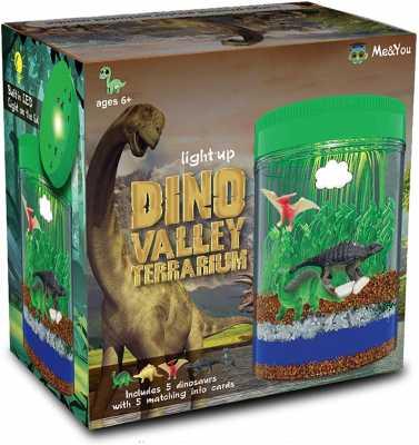 Light-Up Terrarium Kit for Kids with 5 Dinosaur Toys