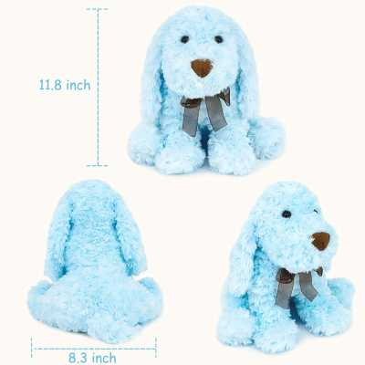 WEIGEDU Poodle Puppy Dog Stuffed Animal Toys, Lovely Plush Dogs for Kids
