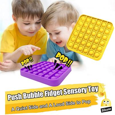Push and Pop Bubble Fidget Sensory Toy, a Loud Side and a Quiet Side to Pop