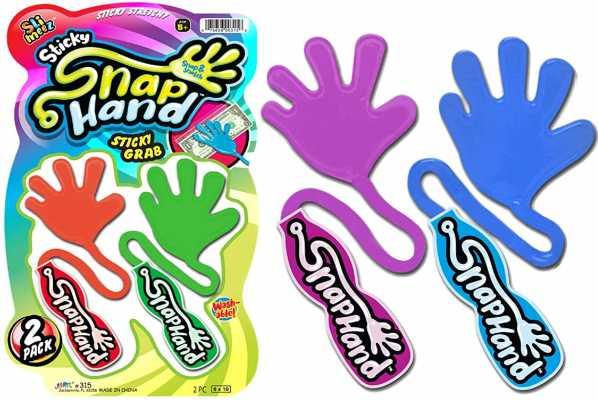 JA-RU Sticky Hands Stretchy Snap Smak Toys (1 Pack) Great Sticky Hand Party Favors