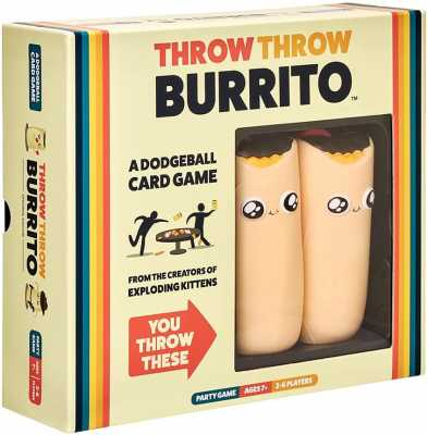 Throw Throw Burrito by Exploding Kittens - A Dodgeball Card Game - Family-Friendly Party Games - Card Games