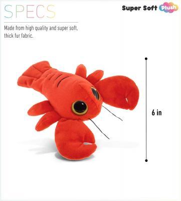 DolliBu Plush Lobster Stuffed Animal - Soft Fur Huggable Big Eyes Red Lobster Decor, Adorable Playtime Plush Toy