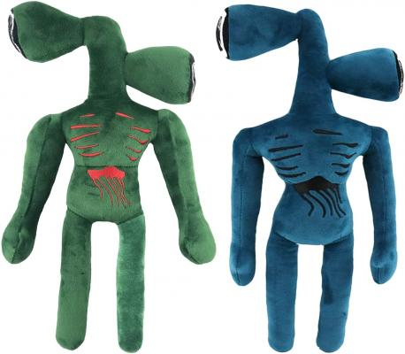 2pcs 15.2inch Siren Head Toy Plush,Birthday for Child(Blue and Green)