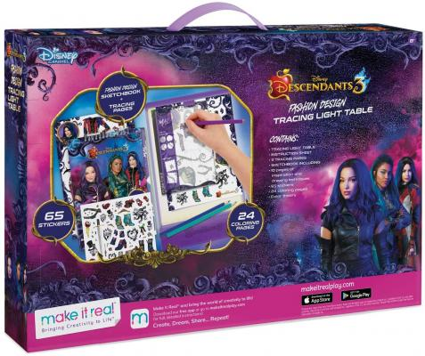 Make It Real - Disney Descendants 3 Sketchbook with Tracing Light Table