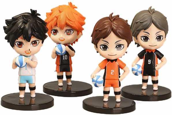 4PCS Anime Haikyuu Figures