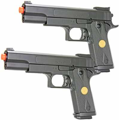 bbtac dual spring p169 spring pistols 260 fps spring airsoft gun (two pack)(Airsoft Gun)