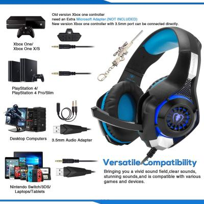 Gaming Headset for New Xbox One PS4 PC Laptop Tablet with Mic