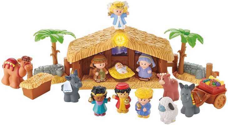 Fisher-Price Little People Christmas Story Brown, Blue, Green, 12 months