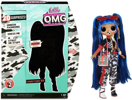 LOL Surprise OMG Downtown B.B. Fashion Doll with 20 Surprises