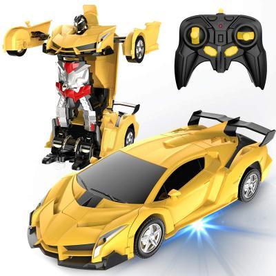 Desuccus Remote Control Car, Transform Robot RC Car for Kids