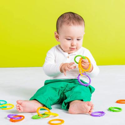 Bright Starts Lots of Links Rings Toys - for Stroller or Carrier Seat - BPA-Free 24 Pcs