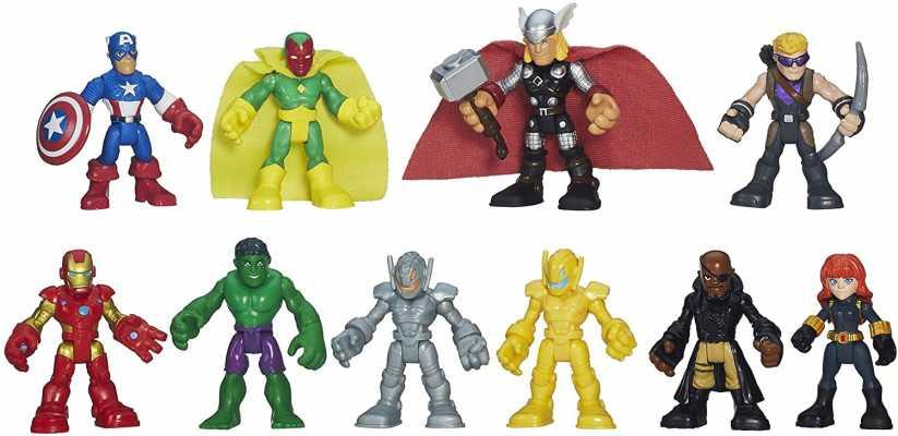Playskool Heroes Marvel Super Hero Adventures Ultimate Avengers Set of 10
