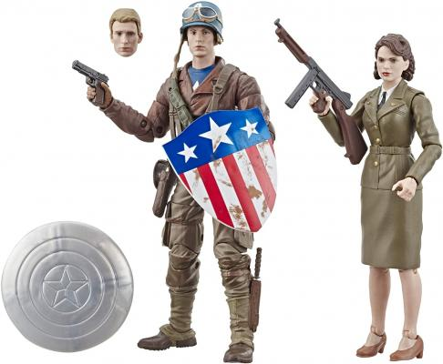 Marvel Legends Series Captain America: The First Avenger 6inch-Scale Movie-Inspired Captain America & Peggy Carter Collectible Action Figure 2 Pack