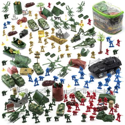 JaxoJoy 200-Piece Army Men Military Set - Cool Mini Action Figure Play Set w/ Soldiers, Vehicles, Aircraft & Boats