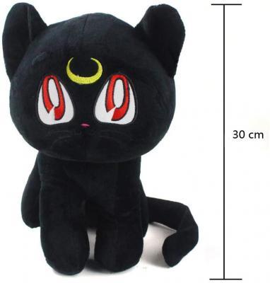 Sailor Moon Plush Doll Sailor Moon Pet Cat Luna Plush Toy 30cm Stuffed Animal Doll