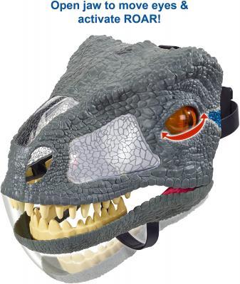 JURASSIC WORLD CHOMP N ROAR MASK Velociraptor - Blue